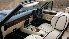 aston martin, v8, vantage, 1987, beige, interior, steering wheel - wallpapers, picture