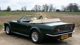 aston martin, v8, vantage, 1987, green, side view, convertible, aston martin, nature - wallpapers, picture