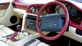 aston martin, v8, vantage, 1993, salon, interior, steering wheel, speedometer - wallpapers, picture