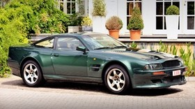 aston martin, v8, vantage, 1993, green, side view, style, aston martin, house - wallpapers, picture