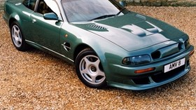 aston martin, v8, vantage, 1999, green, side view, auto, aston martin - wallpapers, picture