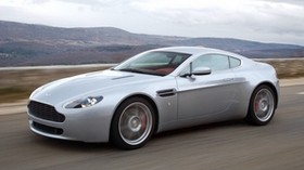 aston martin, v8, vantage, 2005, silver, side view, auto, speed - wallpapers, picture