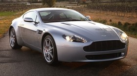aston martin, v8, vantage, 2005, silver, front view, style, aston martin, nature - wallpapers, picture