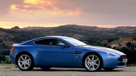 aston martin, v8, vantage, 2005, blue, side view, auto, nature - wallpapers, picture