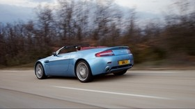 aston martin, v8, vantage, 2006, blue, side view, style, speed, asphalt - wallpapers, picture