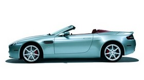 aston martin, v8, vantage, 2006, convertible, green, side view, aston martin, auto - wallpapers, picture