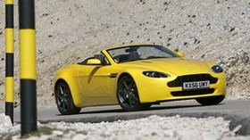 aston martin, v8, vantage, 2006, yellow, side view, auto, aston martin - wallpapers, picture