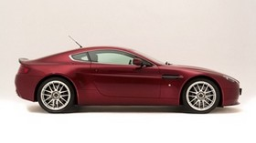 aston martin v8 vantage, 2007, burgundy, side view, style, aston martin - wallpapers, picture