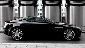 aston martin, v8, vantage, 2007, black, side view, style - wallpapers, picture