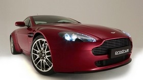 aston martin, v8, vantage, 2007, cherry, front view, style - wallpapers, picture