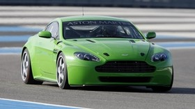 aston martin, v8, vantage, 2007, green, front view, aston martin, auto - wallpapers, picture