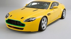 aston martin, v8, vantage, 2007, yellow, front view, style, car - wallpapers, picture