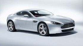 aston martin, v8, vantage, 2008, white, side view, car - wallpapers, picture