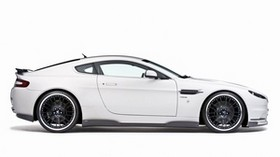 aston martin, v8, vantage, 2008, white, side view, style, aston martin - wallpapers, picture
