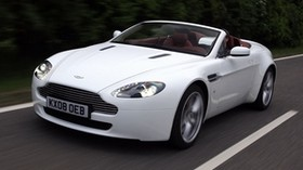 aston martin, v8, vantage, 2008, white, front view, auto, aston martin, speed - wallpapers, picture