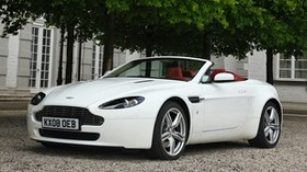aston martin, v8, vantage, 2008, white, front view, style, aston martin, convertible - wallpapers, picture