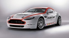 aston martin, v8, vantage, 2008, white, front view, style, aston martin, sport - wallpapers, picture