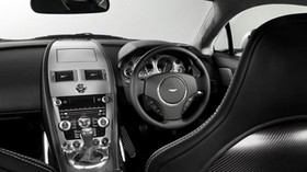 aston martin, v8, vantage, 2008, black, salon, interior, steering wheel, speedometer, style - wallpapers, picture