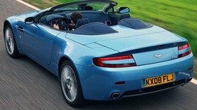 aston martin, v8, vantage, 2008, blue, rear view, style, aston martin, speed - wallpapers, picture