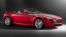 aston martin, v8, vantage, 2008, red, side view, aston martin, style - wallpapers, picture