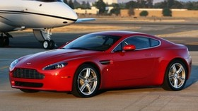 aston martin, v8, vantage, 2008, red, side view, style, aston martin, plane - wallpapers, picture