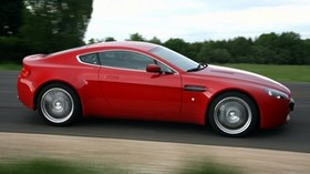 aston martin, v8, vantage, 2008, red, side view, style, aston martin, speed - wallpapers, picture