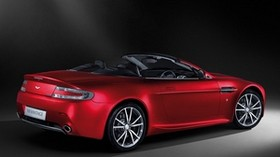 aston martin, v8, vantage, 2008, red, side view, style, convertible, aston martin - wallpapers, picture