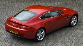 aston martin, v8, vantage, 2008, red, top view, style, aston martin - wallpapers, picture