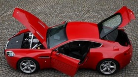 aston martin, v8, vantage, 2008, red, top view, style, aston martin, auto - wallpapers, picture
