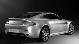 aston martin, v8, vantage, 2008, silver, side view, style, auto, aston martin - wallpapers, picture