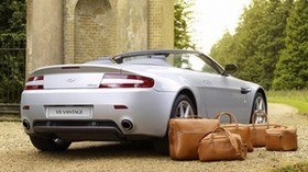 aston martin, v8, vantage, 2008, silver, rear view, style, aston martin, nature - wallpapers, picture