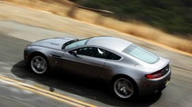 aston martin, v8, vantage, 2008, metallic gray, top view, speed - wallpapers, picture