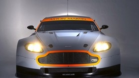 aston martin, v8, vantage, 2008, gray, front view, auto, aston martin, style - wallpapers, picture