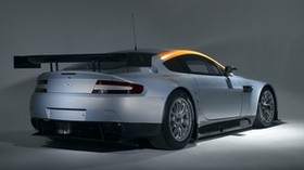 aston martin, v8, vantage, 2008, gray, rear view, style, aston martin - wallpapers, picture