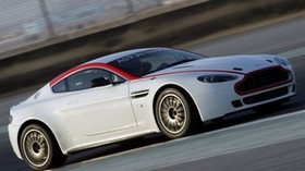 aston martin, v8, vantage, 2009, white, side view, auto, speed - wallpapers, picture