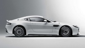 aston martin, v8, vantage, 2010, white, side view, aston martin, style - wallpapers, picture