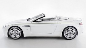 aston martin, v8, vantage, 2010, white, side view, style - wallpapers, picture