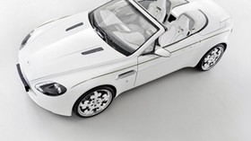 aston martin, v8, vantage, 2010, white, top view, convertible, aston martin, style - wallpapers, picture