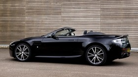 aston martin, v8, vantage, 2010, black, side view, auto, aston martin, style - wallpapers, picture