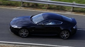 aston martin, v8, vantage, 2010, black, side view, style, aston martin, speed - wallpapers, picture