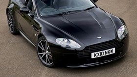 aston martin, v8, vantage, 2010, black, front view, auto, aston martin, asphalt - wallpapers, picture