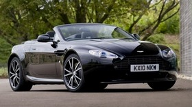 aston martin, v8, vantage, 2010, black, front view, auto, aston martin, tree - wallpapers, picture