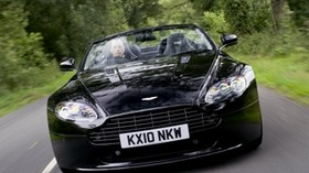aston martin, v8, vantage, 2010, black, front view, style, aston martin, nature - wallpapers, picture