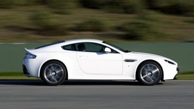 aston martin, v8, vantage, 2011, white, side view, auto, aston martin, speed - wallpapers, picture