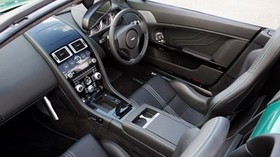 aston martin, v8, vantage, 2011, black, salon, interior, steering wheel - wallpapers, picture