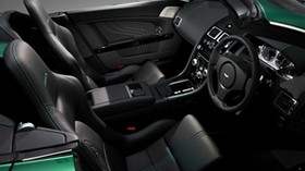 aston martin, v8, vantage, 2011, black, salon, interior, steering wheel, speedometer - wallpapers, picture