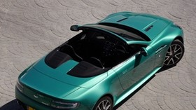 aston martin, v8, vantage, 2011, emerald, top view, style, aston martin, convertible - wallpapers, picture