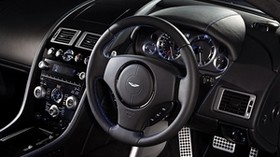 aston martin, v8, vantage, 2011, salon, interior, steering wheel, speedometer - wallpapers, picture