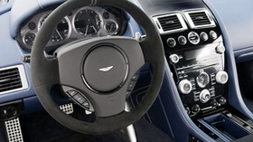 aston martin, v8, vantage, 2011, blue, salon, interior, steering wheel, speedometer - wallpapers, picture