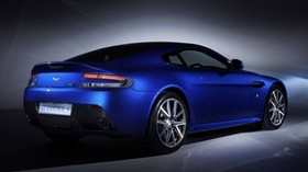 aston martin, v8, vantage, 2011, blue, side view, style, aston martin, auto - wallpapers, picture